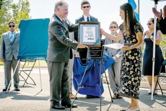 Building dedication honors fallen chaplain