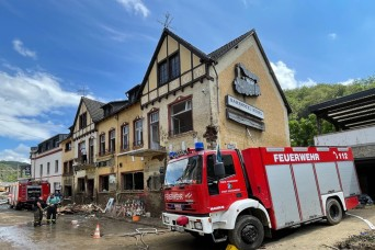 7 USAG Bavaria fire fighters assist German flooding recovery mission