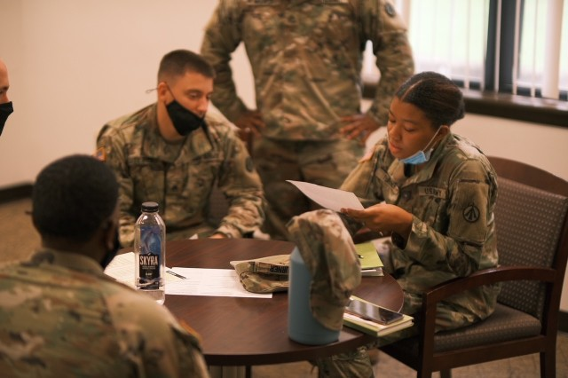 Soldiers engage in lively discussion, provide feedback on SHARP training requirements