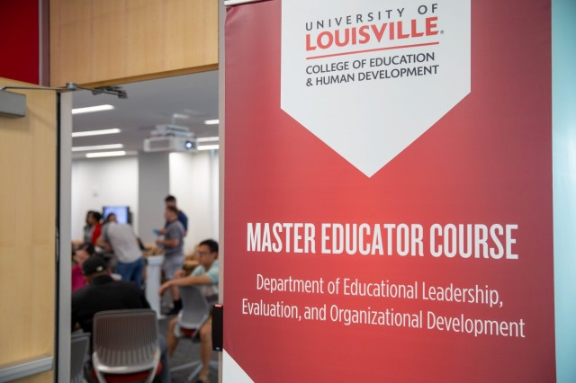General Patton interns enrolled in the Master Educator Course (MEC) at the University of Louisville meet for a luncheon to learn about Historically Black Colleges and Universities (HBCUs), Louisville Ky., Aug. 10, 2021. | Photo by Kyle Crawford, U.S. Army Cadet Command Public Affairs