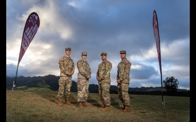 Regional Health Command Pacific's winning team is Capt. Jason Christman, 1st Sgt. Amy E. Davis, Staff Sgt. Israel R. Rivera and Spc. Jarrett P. Rodriguez. The 2021 Army Medicine Best Leader Competition took place July 25-30, 2021, at Schofield Barracks, (Oahu), Hawaii. Sixteen Soldiers from the U.S. Army Medical Command's four regions endured arduous combat focused events such as a taxing obstacle course; night land navigation through the jungles of Schofield Barracks; simulated combat medical care; and weapons fire under stress.  For photos and videos of the competition and to watch the winners award ceremony visit the event's page at: https://www.dvidshub.net/feature/ArmyMedicineBestLeaderCompetition. Check us out also onL https://www.flickr.com/photos/armymedicine/. Follow us @ArmyMedicine, @CSMMEDCOM, and at www.facebook.com/OfficialArmyMedicine
