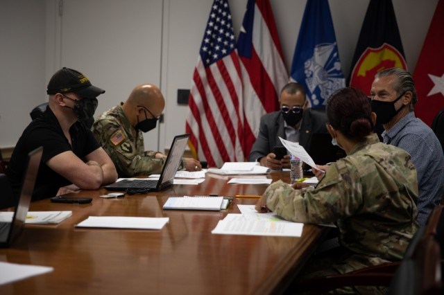 FORT BUCHANAN, P.R.—The 1 st Mission Support Command conducts a civilian awards recognition board for rating cycle 2021 at the command's headquarters, Aug 15, 2021. Senior civilians and senior military leaders served as voting members of the board. Their goal was to evaluate candidates based on performance, contributions, acts, service and to remain unbiased during the evaluation process.