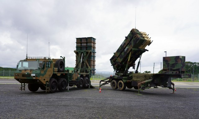 Bravo Battery, 1-1 Air Defense Artillery Battalion, and Japanese Ground Self-Defense Force's 8th Anti-Aircraft Artillery Group, conducted simulated scenario missile defense on Camp Amami as part of Orient Shield 21-2. Both Bravo Battery and 8th AAGp have been conducting drills and other training to include movement, deployment, reload, and system reconfiguring, using both the U.S. Patriot Missile Reload System and the JGSDF's Chu-SAM Missile Reload System.  The Fire Control Platoon conducted bilateral operations through a joint command post. Information was fed to both Patriot Engagement Controls Station and Chu-SAM Fire Control Platoon in the bilateral CP where both unit command teams exercise the capabilities to deconflict the shared airspace between each unit. OS 21-2 focuses on developing and refining the JGSDF and U.S. Army multi-domain and cross-domain operations through a field training exercise.   Orient Shield is the largest U.S. Army and Japan Ground Self-Defense Force bilateral field training exercise being executed in various locations throughout Japan to enhance interoperability and test and refine multi-domain and cross-domain operations.