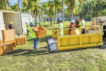 Enniburr Residents Receive USAG-KA, RMI Liaison Office Furniture Donation
