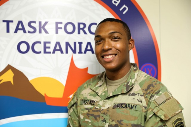 Sgt. Anthony Tunstall, assigned to U.S. Army Pacific Task Force Oceania (TF-O), saved a young boy from drowning during an enculturation training at the Polynesian Cultural Center (PCC) Wednesday, August 11.