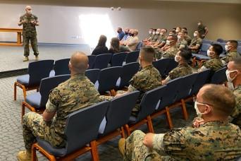 Fort Leonard Wood Marine Detachment awards top performers at CGRI