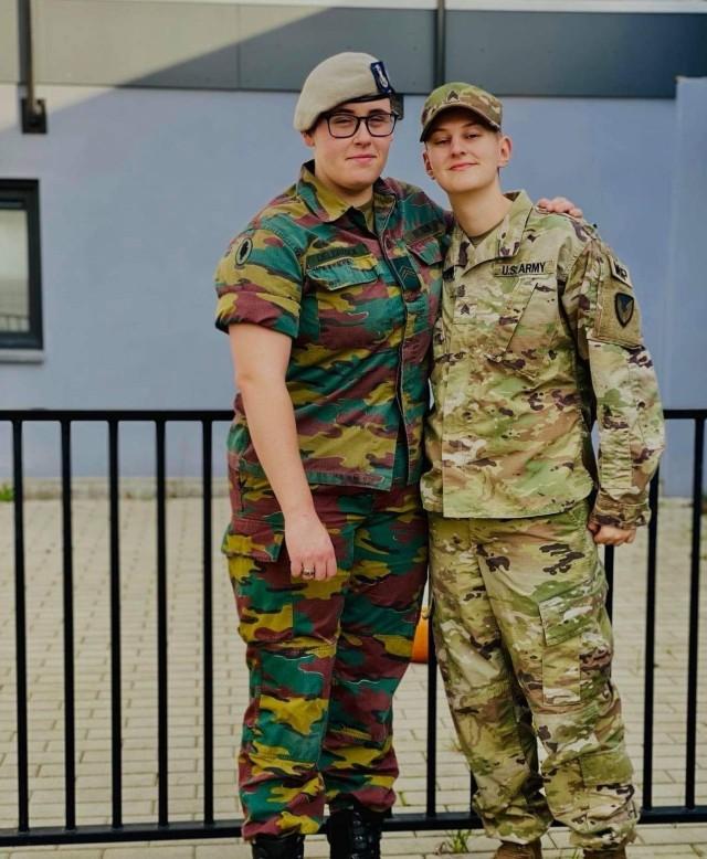 Photo courtesy of Sgt. Jenna Gabaldón, U.S. Army Garrison Benelux, and Sgt. Laure Delbrouck, Belgian Defense.