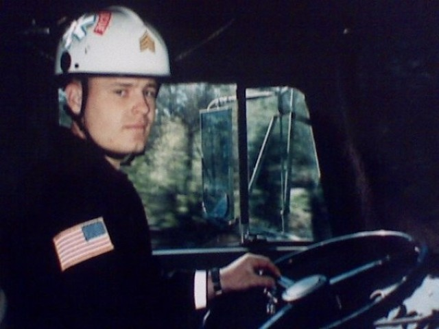 Then-Sgt. Dewey Snavely, a former search and rescue Soldier with the Military District of Washington Engineer Company, during his time in uniform. On Sept. 11, 2001, Snavely was one of the first responders to the terrorist attack on the Pentagon in Washington, D.C.