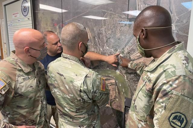 LOUISIANA - Members of the Louisiana National Guard coordinate Hurricane Ida response.