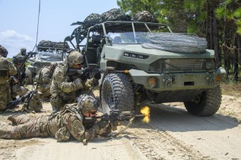 82nd, 101st Airborne Division Soldiers test new Infantry Squad Vehicle at Ft. Bragg