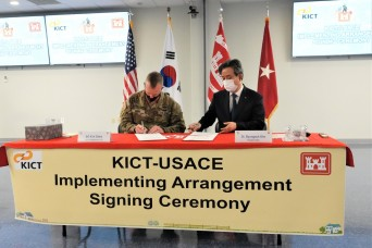 U.S. Army Corps of Engineers and Korea Institute of Civil Engineering and Building Technology (KICT) sign Implementing Arrangement to further develop technical cooperation