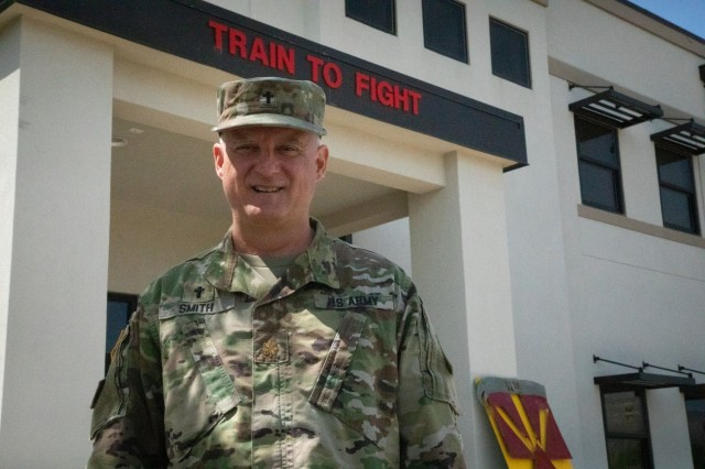 The 11th ADA Brigade Chaplain, Maj. Brian Smith, shares tips on suicide prevention month, Aug. 16, 2021, Fort Bliss, Texas.