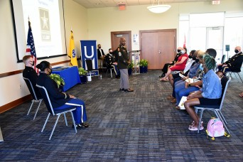 Senior enlisted leader gives cadets insight for their military careers