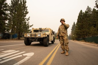 Cal Guard MPs support CHP as Caldor Fire grows