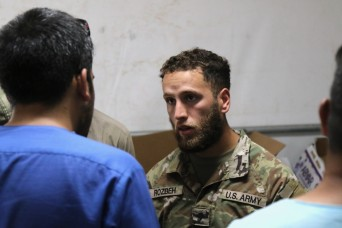 Afghan American Soldier supports Operation Allies Welcome evacuees