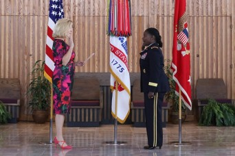 Secretary of the Army swears in first female inspector general