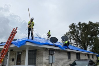 US Army Corps of Engineers installs first 'Blue Roof' in Orleans Parish