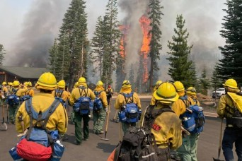 Cal Guard fighting wildfires across the state