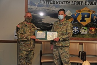 Army Commendation Medal awarded to Health Clinic administrator