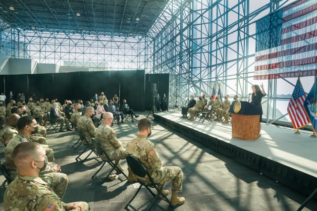 Gov.KathyHochulrecognizes the New York National Guard for its 9/11 response on the 20th anniversary of the terror attacks in remarks at the Jacob Javits Center in New York. (photo: Don Pollard/Office of Governor Kathy Hochul)