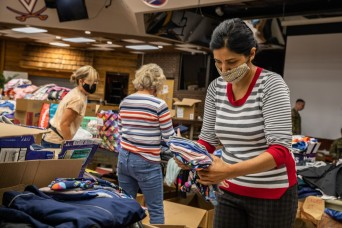 NGOs at Fort Lee have enough donations to sustain Afghan families