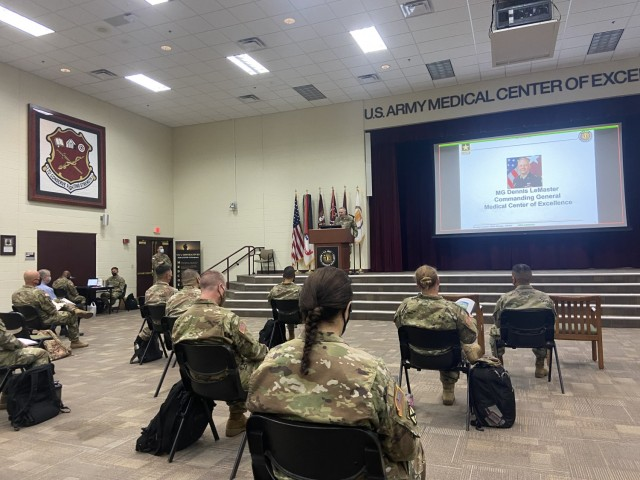 Over 200 virtual and nearly 50 in-person attendees participated in a hospitalization summit hosted by Army Capability Manager-Army Health System, or ACM-AHS, at the U.S. Army Medical Center of Excellence, or MEDCoE, September 8-10. Opening remarks were provided by Maj. Gen. Dennis LeMaster, MEDCoE Commanding General, on September 8 in Blesse Auditorium at Joint Base San Antonio-Fort Sam Houston, Texas.