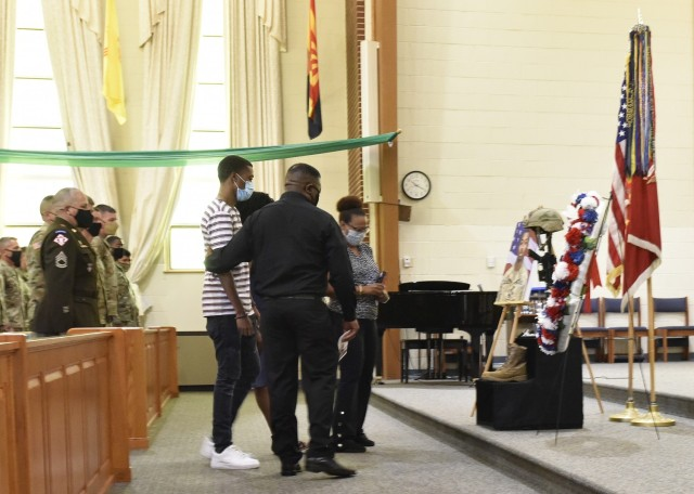 Morrison's family members travelled to Fort Leonard Wood from Georgia to attend his memorial.