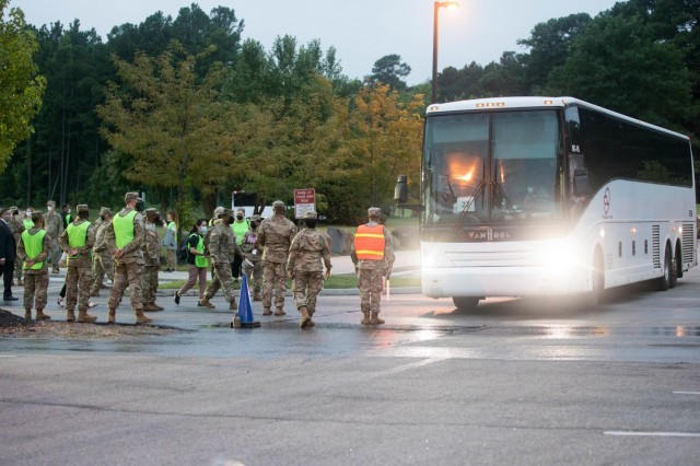 Task Force Eagle at Fort Lee plays a central role in Operation Allies Welcome