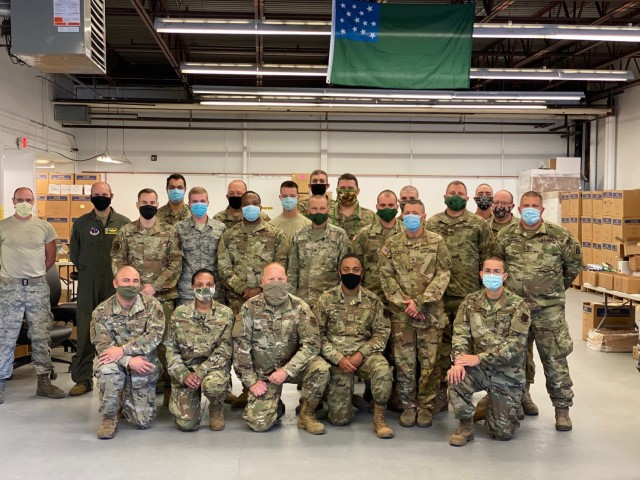 Vermont National Guard supports medical warehouse