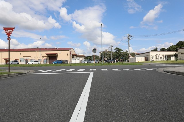 Remodeling is scheduled to begin this month on the intersection on Camp Zama at Sendai Street and Ishinomaki Avenue. The 10-month, four-phase construction process is scheduled to begin this month and conclude in July 2022, and will create a traditional four-way intersection that will hopefully reduce driver confusion and decrease accidents. As seen here, the crossing at Ishinomaki Avenue is not a straight line; it requires drivers heading going either north or south to make two small 90-degree turns.