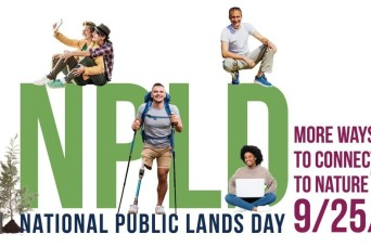Army Corps of Engineers waives fees and invites volunteers to participate in National Public Lands Day, Sept. 25