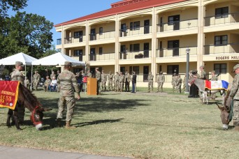 Fort Sill ceremony features three donkeys