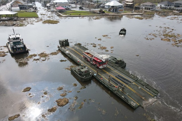 La. Guard builds bridges, clears roads to recovery after Ida