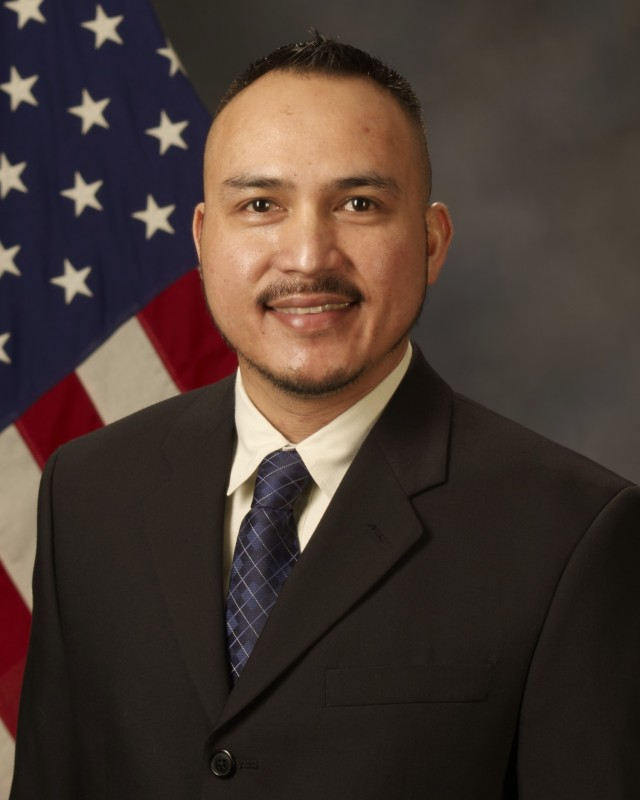 Julian Villar Jr., a U.S. Army Sustainment Command Installation Property Book officer, was recently recognized with the 2020 Louis Dellamonica Award as one of 10 outstanding U.S. Army Materiel Command Personnel of the Year. (Photo courtesy of U.S. Army)