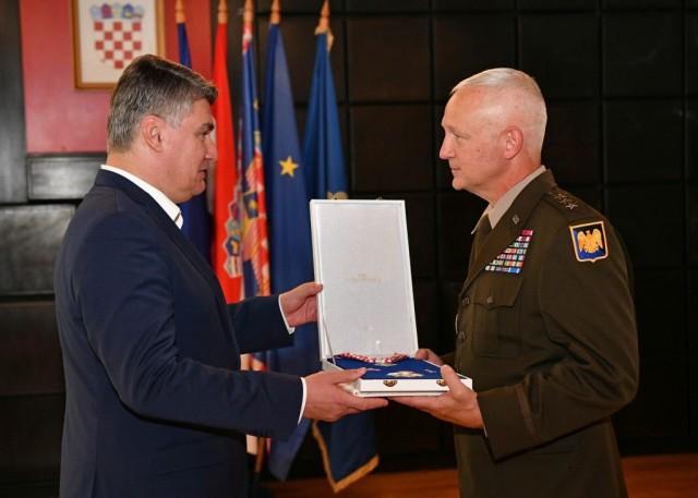 Army Guard director awarded Croatian Duke of Trpimir medal