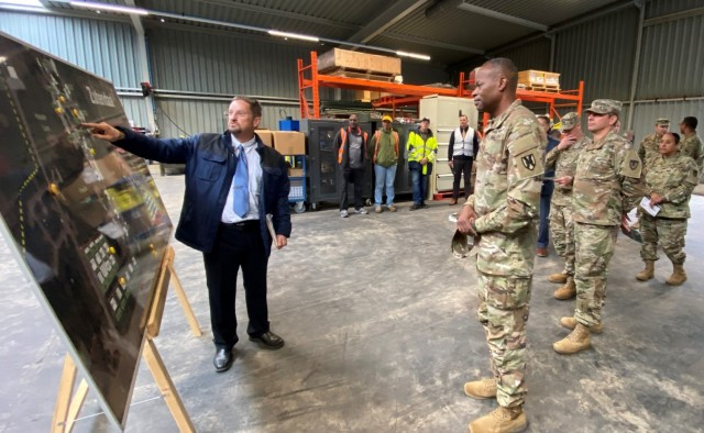 21st TSC command team visits 405th AFSB's Belgium, Netherlands APS-2 sites, Brunssum