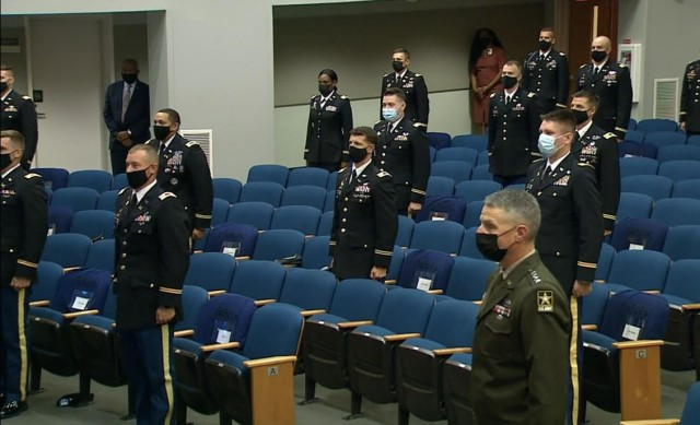 Twenty-eight of the Army's top company-grade officers were awarded the Gen. Douglas MacArthur Leadership Award by Army Vice Chief of Staff Gen. Joseph M. Martin during a ceremony at the Pentagon, Oct. 5, 2021.