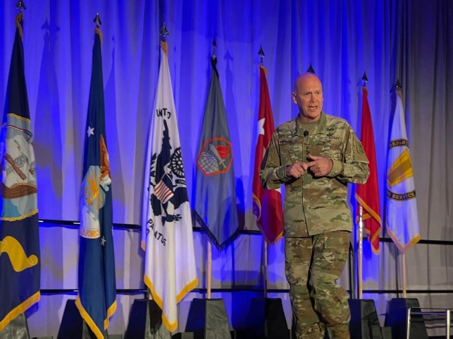 Lt. Gen. John Morrison Jr., discussed the Army's Unified Network Plan at AFCEA TechNet Augusta.