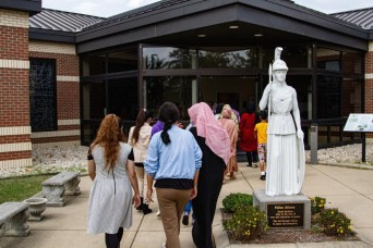 Fort Lee museum tours motivate Afghan women