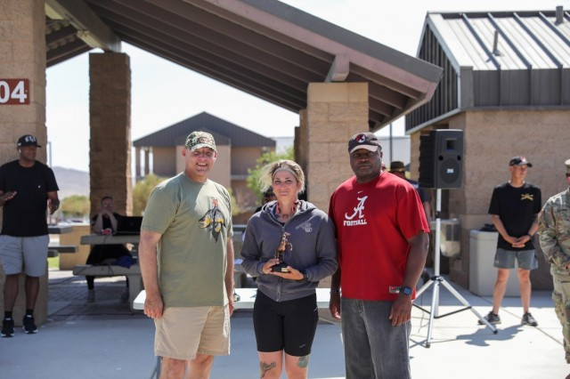 Full Marathon 1st Place finisher for females, Capt. Gabriella Katz  The 11th Armored Cavalry Regiment reignited the tradition of the Blackhorse Marathon that began in the late 1970s in Fulda, Germany. The race started as an opportunity to bring the Regiment's Troopers and the community together. It is understood that Major General Sunell, the 48th Regimental Commanding Officer, is responsible for the institution of the Blackhorse Marathon. Our organization continues this tradition today in memory of him.